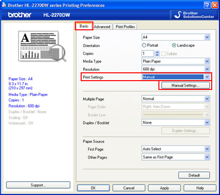 how to change printer internet settings