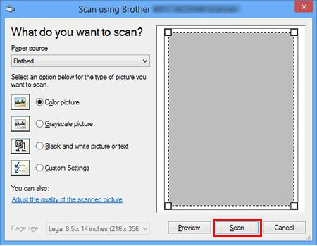 scanning option