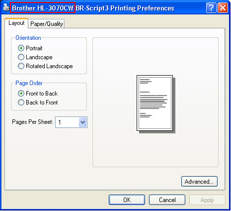 The printer prints unexpectedly or it prints random data | Brother