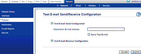 Test Email Send Configuration Image
