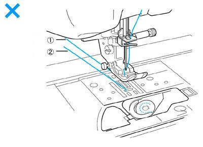 the bobbin thread does not pass over the bobbin
