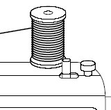 Place the thread spool on the spool pin