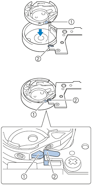 How Do I Insert The Bobbin Case In The Machine Brother Adorable How To Load A Bobbin In A Brother Sewing Machine