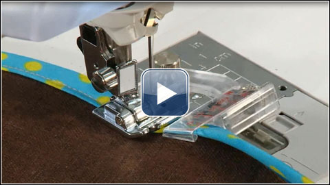 How To Use The Adjustable Binder Foot Optional Accessory SA40 Extraordinary Sewing Machine Binding Foot