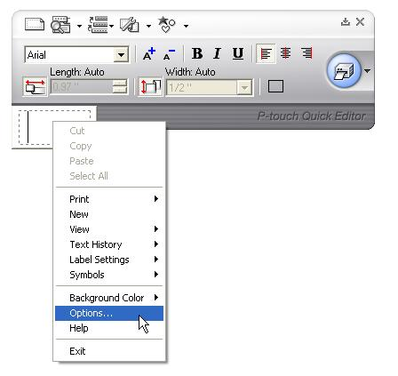 In P Touch Quick Editor Can The Shortcut Keys For Importing Text