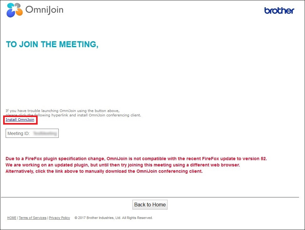 I cannot enter the meeting room using Mozilla® Firefox