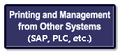 Printing & management from other systems (SAP, sequencers, etc.)